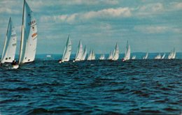 New York Long Island Star Boats Racing In Long Island Sound - Long Island
