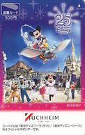 Carte Prépayée Japon - DISNEY - MICKEY & ELEPHANT BABAR / JUCHHEIM GERMANY - Japan Prepaid Card Tosho Karte - Disney