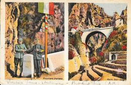Frontière Franco-Italienne - Frontiera Italiana, Ponte San-Luigi (Pont St Louis) Carte Munier Colorisée - Zoll
