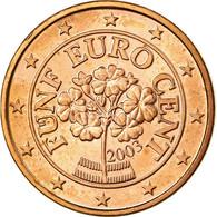 Autriche, 5 Euro Cent, 2003, SPL, Copper Plated Steel, KM:3084 - Autriche