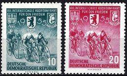 German Democratic Republic 1955 - Mi 470/71 - YT 198/99 ( Peace Cycling ) MNH** - [6] Oost-Duitsland