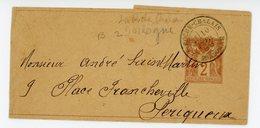 DORDOGNE ENTIER BJ 1889 LA ROCHE CHALAIS TYPE 18 SUR 2C SAGE ENTIER BJ - 1877-1920: Période Semi Moderne