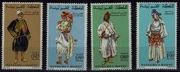 Maroc Marokko 1968 - Trachten  Folk Costume - MiNr 628-631 - Kostüme