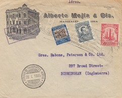 Colombia 1935: Barranquilla - Air Mail - To Birmingham - Colombie