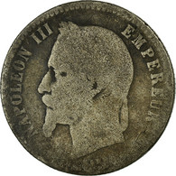 Monnaie, France, Napoleon III, Napoléon III, 50 Centimes, 1865, Paris, B+ - France