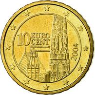 Autriche, 10 Euro Cent, 2004, SUP, Laiton, KM:3085 - Autriche