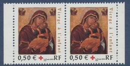 N°3717 Croix Rouge, Faciale 0,50 € X 2 - Ongebruikt