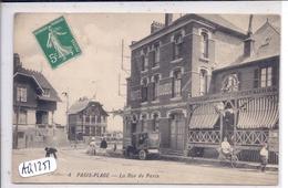 LE TOUQUET- PARIS-PLAGE- L HOTEL DUBOC ET RESTAURANT A LA NAISSANCE DE LA PLAGE- RUE DE PARIS- BELLE AUTO - Le Touquet
