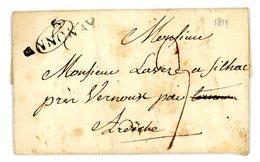 ARDECHE LAC 1819  6 / ANNONAY TAXE 3 - 1801-1848: Precursors XIX