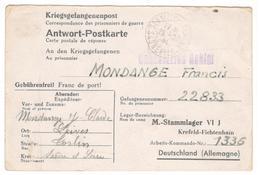 19051 - STALAG  VI J FICHTENHAIN - Poststempel (Briefe)