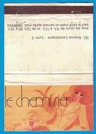 POCHETTE SANS ALLUMETTES CREATION CRISTEN LYON / LE CHEMISIER 151 AVENUE LACASSAGNE LYON CHEMISIERS HAUTE COUTURE - Boites D'allumettes
