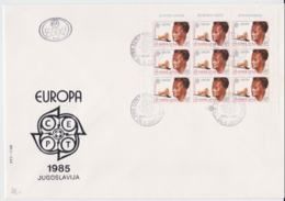 Yugoslavia 1985 FDC Europa CEPT Complete Sheet  (LAR5-70P) - 1985