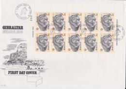Gibraltar 1983 FDC Europa CEPT Complete Sheet (LAR5-70P) - 1983