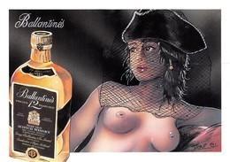 Jaap De BOER - Nu Dessiné - Femme Voilée - Scotch Whisky Ballantine's - Bande Dessinée - Dessins