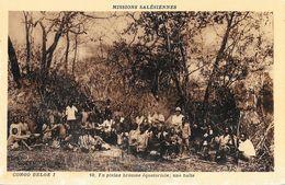 Missions: Salésiennes - Congo Belge - En Plein Brousse équatoriale, Une Halte - Carte N° 10 Non Circulée - Missions