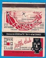POCHETTE SANS ALLUMETTES EDITE TESTRO BROS PARIS / SCOTCH-CLUB AVENUE DE LERINS CANNES DINERS ET SOUPERS DANSANT - Boites D'allumettes