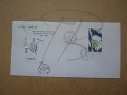"""VEND BEAU TIMBRE DE POSTE AERIENNE DES T.A.A.F. N° 69 SUR LETTRE , """" DUMONT-D'URVILLE-T.ADELIE """" !!! (d) - Airmail"""