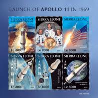 Sierra Leone 2019 Launch Of Apollo 11 In 1969  ,space  USA Flag  S201903 - Sierra Leone (1961-...)
