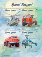 Sierra Leone 2019 Special Transport Helicopters , Trucks  S201903 - Sierra Leone (1961-...)