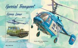 Sierra Leone 2019 Special Transport Helicopters , Truck , Cargo Carrier S201903 - Sierra Leone (1961-...)
