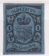 OLDENBURG  MI N° 6  DEFECTUEUX CLAIR + TROU - Oldenburg