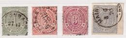 NORD DEUTSCHERBUND  MI N° 7-10 - Norddeutscher Postbezirk
