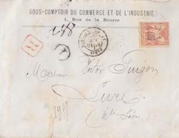 N° 70 40c Orange (N/B) Seul Sur Lettre Recommandée à Entête De Paris Le 10 Nov 79 Pour Lure - 1877-1920: Semi-moderne Periode