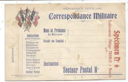 CARTE FRANCHISE MILITAIRE  DRAPEAUX + GRIFFE SPECIMEN N°6 ETABLISSEMENTS PHILIPPE THOMAS A BEAUJEU 1915 - Marcophilie (Lettres)