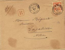 1883- Enveloppe RECC. Affr. N° 94 Oblit. Cad T18 De MAYET-DE-MONTAGNE / ALLIER - Marcophilie (Lettres)