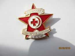 RUSSIA USSR RED CROSS EXCELLENT MEMBER PIN BADGE , 0 - Medical