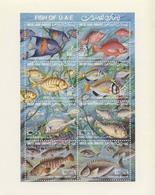MDN-BK1-545 MINT POSTFRIS ¤ UNITED ARAB EMIRATES 1991 8w In Sheets ¤ UNDERSEA LIFE - MARINE LIFE - FISH - Marine Life