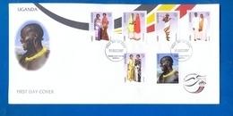 UGANDA FDC First Day Of Issue 2007 Pre UPU Congress 2008 Costumes Of Uganda #102 - Oeganda (1962-...)