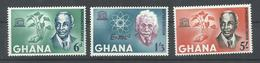 GHANA   YVERT  178/80   (DENTADOS)   MNH  ** - Ghana (1957-...)