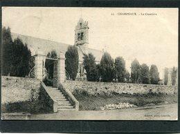 CPA - CHAMPEAUX - Le Cimetière - Andere Gemeenten