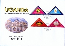UGANDA FDC Sikh Centenary Celebrations In Uganda 1913 - 2013. First Day Of Issue 2014 #101 - Oeganda (1962-...)