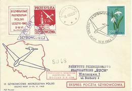 POLONIA, CARTA AEREA CIRCULADA AÑO 1963 - 1944-.... República