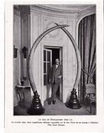 """1924 Le Duc De Montpensier Avec Deux Défenses D'une De Ses  Chasses Aux éléphants Verso:""""Shenandoah""""dirigeable Américain - Vieux Papiers"""