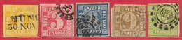 Bavière N°9 à 13 1861-62 O - Bayern