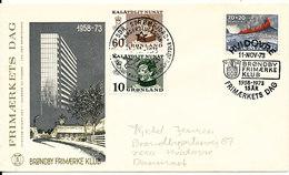 Denmark Cover Stamp's Day Hvidovre 11-11-1973 And Greenland Sdr. Strömfjord 1-12-1973 - Brieven En Documenten