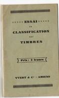 Essai De Classification Des Timbres  (ed Yvert Et Tellier ) (c.1950) (PPP18918) - Sonstige Bücher