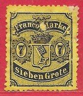 Brême N°13 7g Noir Sur Jaune 1866-67 (*) - Brême