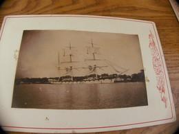 17 - Photo INDOCHINE, Bateau La Ville De Rouen à Saïgon, Flotille Du Mékong - Old (before 1900)