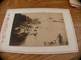 32  - Photo ,INDOCHINE, Blanchisseurs Et Chevaux Sur Le Mékong - Oud (voor 1900)