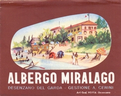 Etiket Etiquette - Hotel - Albergo Miralago - Desenzano Del Garda - Gestione A. Cerini - Etiquettes D'hotels