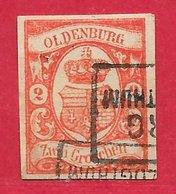 Oldenbourg N°13 2g Rouge (faux) 1860 O - Oldenburg