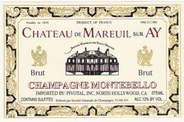 Etiquette Champagne BRUT - MONTEBELLO à Mareuil-sur-Ay - CHATEAU DE MAREUIL-sur-AY - Champagne