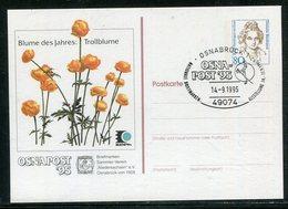 """Bundesrepublik Deutschland / 1995 / Privatpostkarte """"Blume Des Jahres-Trollblume"""", SSt. Osnabrueck (18737) - [7] Federal Republic"""