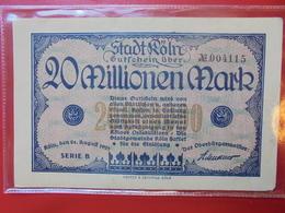 KÖLN 20 MILLIONEN 1923 CIRCULER - Verzamelingen