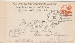 Etats Unis Entier Postal Army Postal Service 1944 - Poststempel