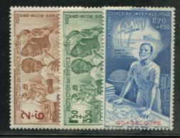 GUADELOUPE  ( AERIEN )  Y&T  N°  1/3  TIMBRES  NEUFS  AVEC  TRACE  DE  CHARNIERE . - Guadeloupe (1884-1947)